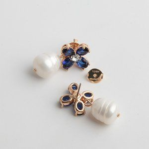 Tory Burch Irregular Deep Pearl Earrings